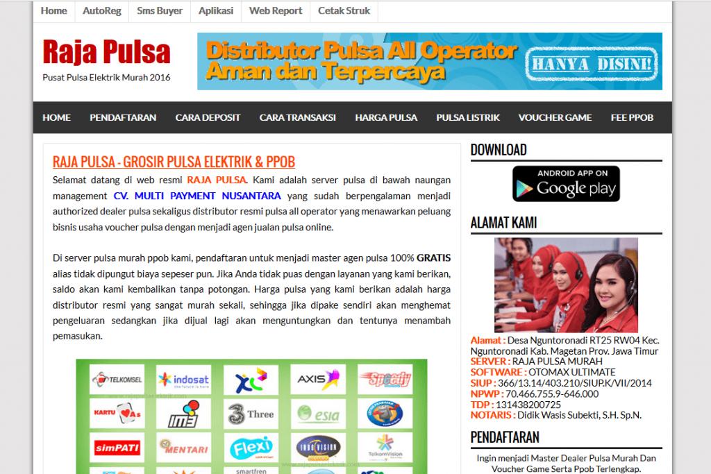 contoh web blog pulsa murah gratis